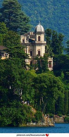 Villa Favorita, Castagnola, Lugano. Photo vjmite, adapted by iloveswissmade