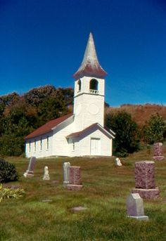 Country Church with Cemetary