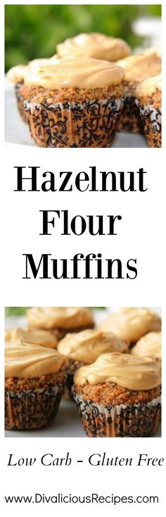Hazelnut flour muffins that are topped with a delicious coffee cream cheese topping. The flavour combination of hazelnut and coffee is divine. Low Carb Brownie Recipe, Keto Chocolate Recipe, Keto Muffin Recipe, Low Carb Chocolate, Low Carb Candy, Low Carb Sweets, Low Carb Desserts, Low Carb Recipes, Snack Recipes