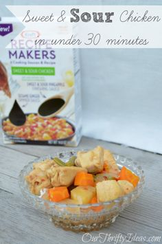 Sweet and Sour Chicken with Kraft Recipe Makers from OurThriftyIdeas.com #shop #kraftrecipemakers