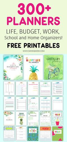 Free Planner Printables to Organize Your Whole Life! Free Planner Printables to Organize Your Whole Life! Free Planner Printables to Organize Your Whole Life! Planner Free, To Do Planner, Weekly Planner, Happy Planner, 2015 Planner, Planner Diy, Home School Planner, Printable Budget Planner, House Planner