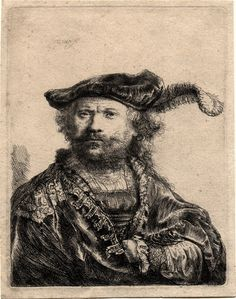 Rembrandt Self-portrait with Plume 1638