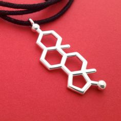testosterone necklace - molecule of drive and desire - in solid sterling  silver cfafac1f14c