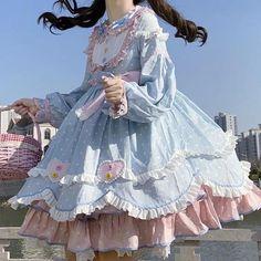 Harajuku Fashion, Kawaii Fashion, Lolita Fashion, Cute Fashion, Kawaii Dress, Kawaii Clothes, Pretty Outfits, Pretty Dresses, Cute Outfits