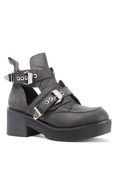 The Coltrane Boot in Distressed Black by Jeffrey Campbell Loved this shoe as soon as I saw CutePie Marzia wear it!