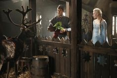 "Check these out! ComingSoon.net has released early photos of Elsa & Kristoff on the set of ABC's Once Upon A Time. We're excited to see how the producers ""twist"" the Frozen storyline. Season 4 of #OnceUponATime premieres on Sunday, September 28. Click on the photo to see more. #BehindTheScenes #bts #Frozen"