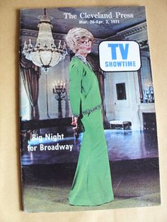 """Carol Channing, TV Showtime - """"Big Night for Broadway"""" Tony Awards Cleveland Press March 26 - April 2 1971"""