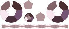 this is a template to bulit a Smoky Quartz- Rose Quartz papercraft gem from steven universe cartoon