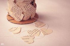 Paper Heart Garland Wedding decoration