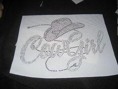 Cowgirl n Hat Rhinestone applique by cthorses66 on Etsy, $10.00