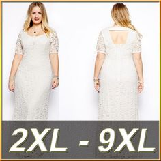 7XL 6XL Plus Size Women Long Lace Dress Large Size Dress Vestidos Sexy Big Size Black Ladies 8XL White Backless Maxi Clothing