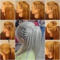 Super Stylish High Ponytail with Side Mesh Tutorial - http://www.stylishboard.com/super-stylish-high-ponytail-with-side-mesh-tutorial/