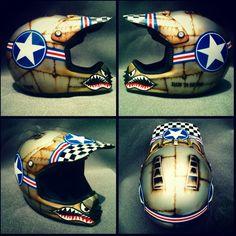 Casco para motocross personalizado- Motocross Helmet custom paint by RHM Aerografia-Arte visual de Aire & Pintura Airbrush Art