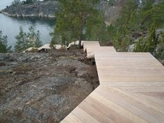 Image 8 of 16 from gallery of Villa Överby / John Robert Nilsson Arkitektkontor. Photograph by John Robert Nilsson Wooden Staircases, Wooden Stairs, Landscape Architecture, Landscape Design, Minimalist Architecture, Stockholm Archipelago, Sweden House, Modern Lake House, Stairway To Heaven