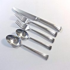WATERFORD  MONT CLARE Stainless Steel Flatware 5 Pc. Place Setting - New w/o Box #Waterford