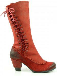 Dkode Schuhe Damen Stiefel Jasmin 6174, Schuhgröße:37;Farbe:Rot