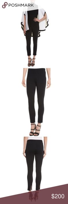 St. John Collection Alexa Knit Slim Leg Ankle Pant St. John Collection Alexa Knit Slim-Leg Ankle Pants, Caviar.  Mid rise. Fitted legs with back vent. Cropped at ankle. Hidden side zip. Wool/rayon/spandex. Dry clean. Like New. Size 2 St. John Pants Skinny