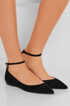 Slight heel Black suede Buckle-fastening ankle strap Made in Italy