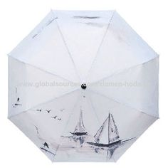 Manual open folding umbrella, creative and fashionable, for ladies and men