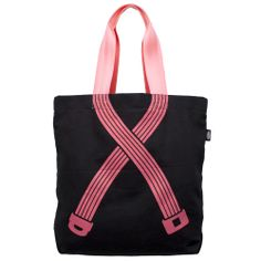 Rally Tote Canvas Tote Bag, Breast Cancer Awareness, Pink & Black