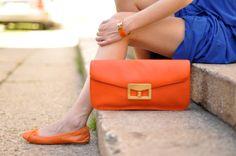 Orange Purse and Slipons