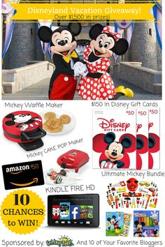 Disneyland Vacation Giveaway (2 night 2 adult ticket passes)- 10 prizes 10 winners. Enter now! #LiveLikeYouAreRich