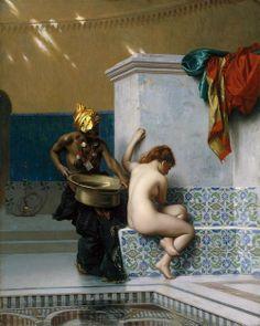 Jean-Léon Gérôme, Moorish Bath, 1870, Oil on canvas, Museum of Fine Arts, Boston