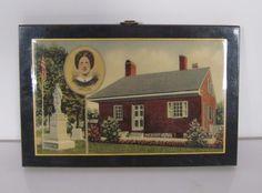Vintage Jennie Wade House Souvenir Pyraglass Wooden Plaque, Gettysburg, PA #Pyraglass #JennieWade #Gettysburg