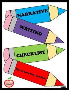 Writing Checklist - Narrative by Innovative Teacher