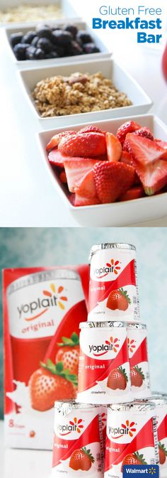 Gluten Free Breakfast Bar| Walmart – Keep your gluten free guests happy with a gluten free breakfast bar. Include Yoplait and a simple toppings bar with fresh fruit and nuts or granola to add a crunchy layer. This gives guests a chance to create their own bowl with delicious toppings.