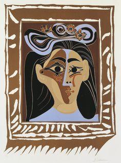 Jacqueline au Chapeau à Fleurs by Pablo Picasso from Detroit Institute of Arts