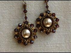 Sidonia's handmade jewelry - Half Tila Earrings tutorial - YouTube