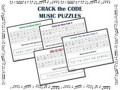 CRACK the MUSIC CODE: Students must identify the name of the music symbols in order to find the correct letters for the answer! $ Good substitute activity for when I'm gone.