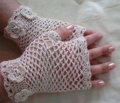 Crochet victorian fingerless lace gloves with by CrochetKnit30, $30.00