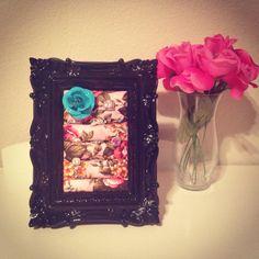 Black baroque ring frame  on Etsy, $30.00