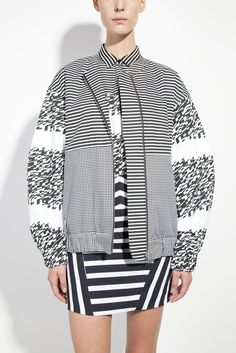 honest by. Bruno Pieters Unisex printed organic cotton bomber jacket