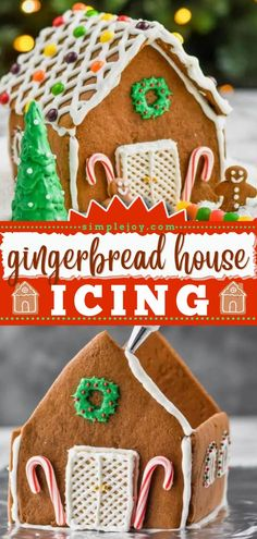 In search of easy and fun sweet treats to make this season? The best Gingerbread House Icing recipe is what you need for your Christmas dessert! Don't forget to grab the gingerbread house template printable, too! Best Gingerbread House Icing Recipe, Cool Gingerbread Houses, Best Dessert Recipes, Fun Desserts, Gingerbread House Template Printable, Christmas Desserts, Fudge, Sweet Treats, Baking
