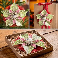 Ornamental Elegance Kit - limited availability - kit makes 10 ornaments! Awesome accent for gifts, great for holiday decorations Christmas Makes, Christmas Holidays, Christmas Crafts, Christmas Decorations, Christmas Ornaments, Christmas Trimmings, Tarjetas Stampin Up, Stampin Up Cards, Navidad Diy