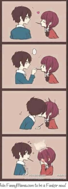 39 trendy ideas for drawing anime couples kisses kawaii Couple Amour Anime, Couple Manga, Anime Love Couple, Cute Anime Couples, I Love Anime, Anime Comics, Comic Anime, Manga Anime, Art Anime