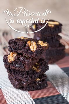 Especial de Páscoa: brownie de nozes e bolacha