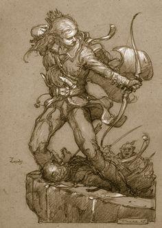 Legolas at Helm's Deep - Donato Giancola