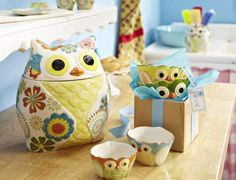 Our quirky owl kitchen accessories are sure to bring smiles