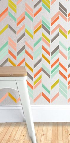 Multi Color Herringbone - Wall Decal Set on Etsy, 76,91 $ CAD