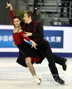 Elena Ilinykh and her new partner Ruslan Zhiganshin at Cup of China 2014
