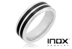 6/6/2012  $22.99  + FREE SHIPPING Inox Stamped Tungsten Carbide Carbon-Fiber Two Line Design Men's Ring