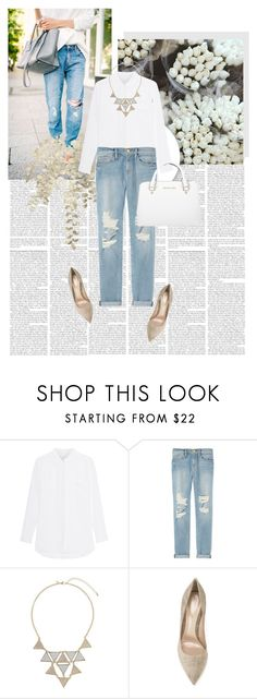 """""""Boyfriend jeans"""" by merimasworld ❤ liked on Polyvore featuring Frame Denim, Miss Selfridge, Gianvito Rossi and Michael Kors"""