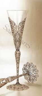 Elegant Champagne Glasses..bring on the bubbly, but only the best for these flutes.
