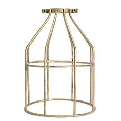 KING DO WAY Metal Bulb Guard , Vintage Retro Light Industrial Metal Wire Bulb Guard Clamp On Lamp Cage Cover 130*200mm Red Patina: Amazon.co.uk: Lighting