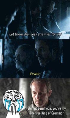 Stannis is Grammar King