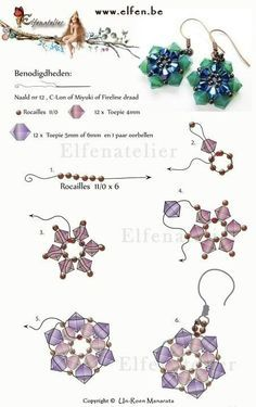 Free Pattern for Beaded Earrings